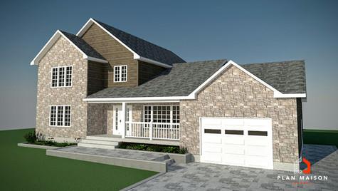 maison 2 etage avec garage montreal