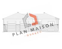 plan maison avec garage double