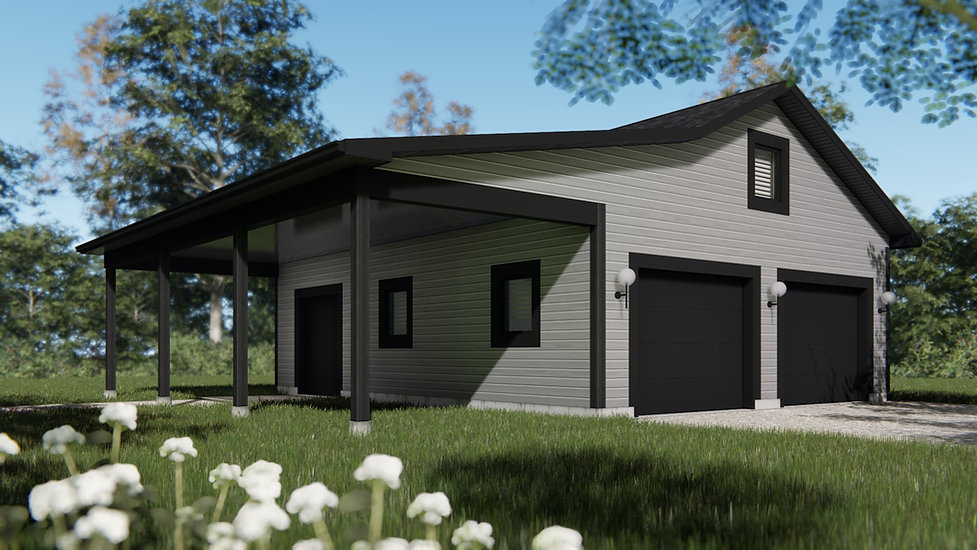 plan de garage double