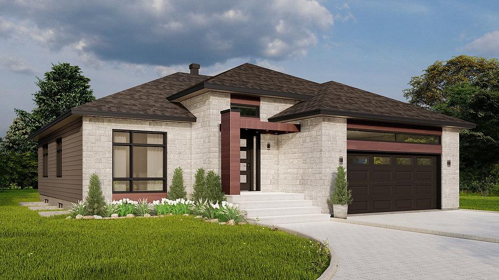 plan de maison avec garage rouyn-noranda