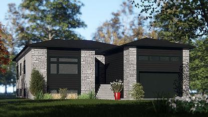 Plan de maison avec garage