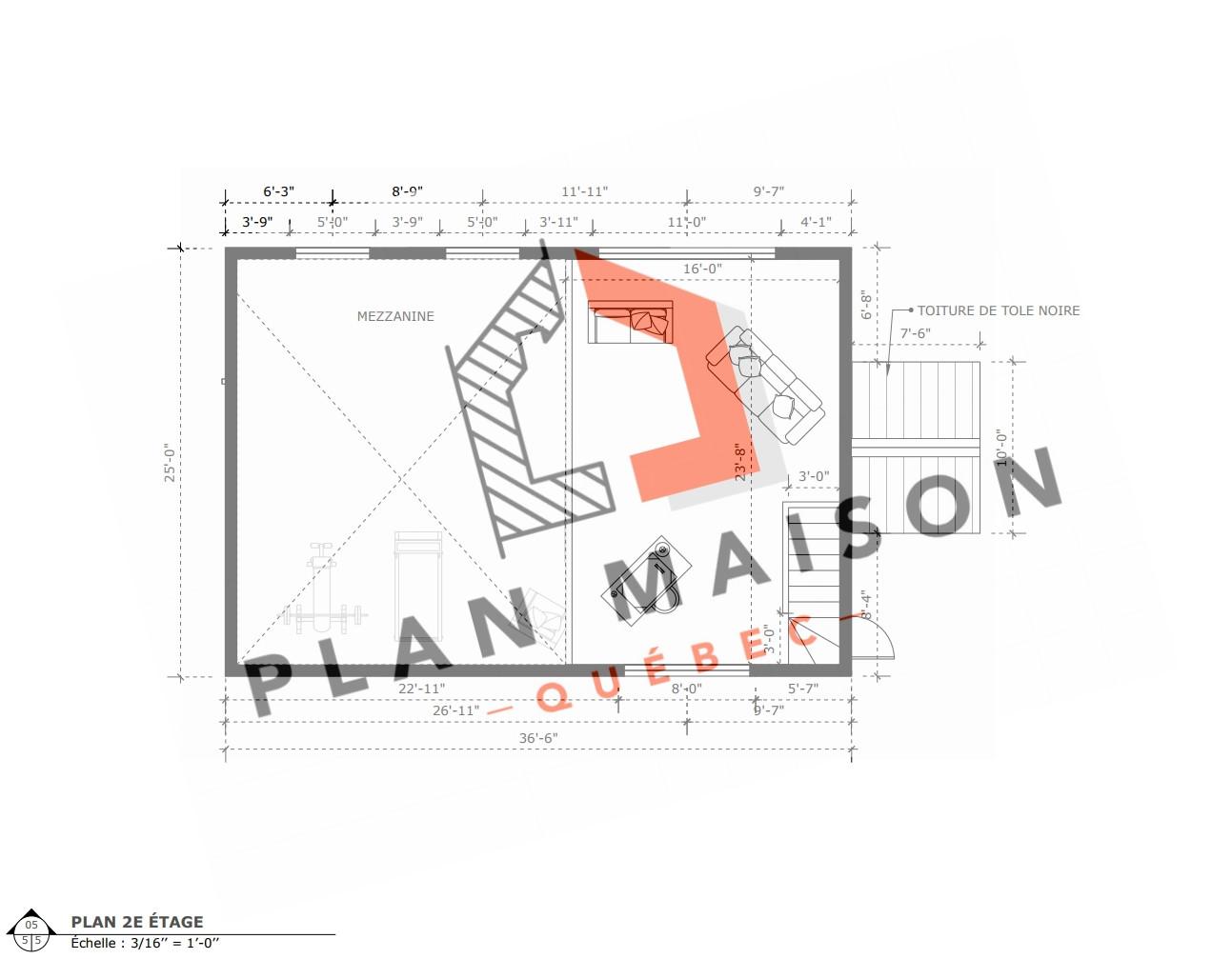 plan de maison avec garage abitibi