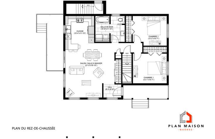 plan de construction maison plain pied