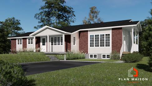 plan de maison avec garage alma