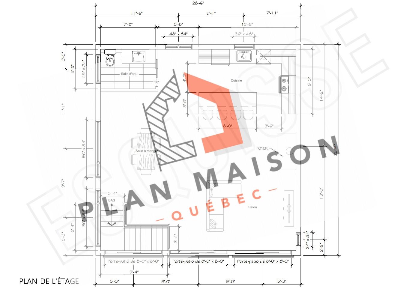 plan maison 2 etage trois-rivieres