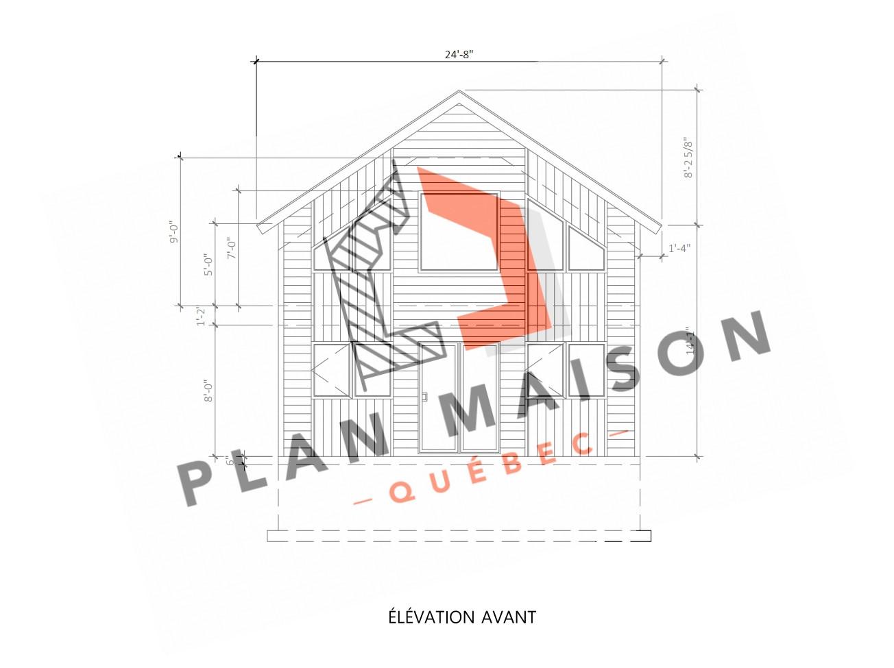 plan maison 2 chambre