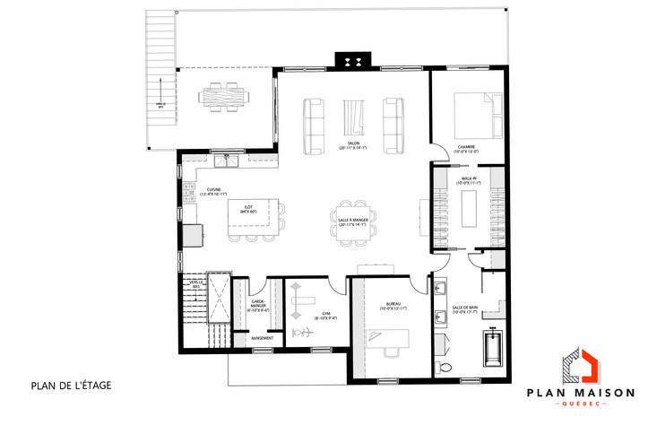 plan de maison avec garage double