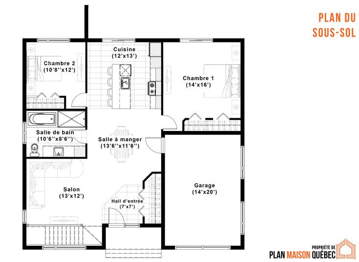 plan de maison avec garage varennes