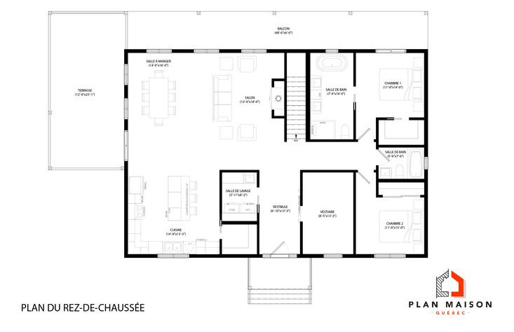 maison plan la prairie