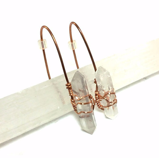 Quartz Point Earrings