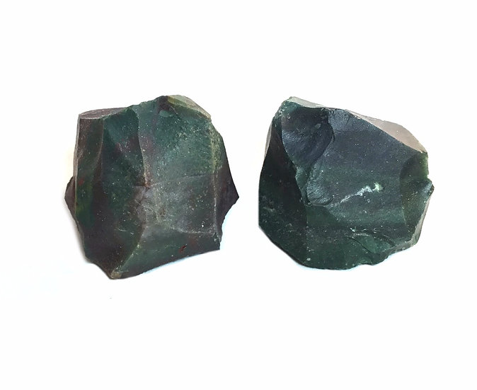 Red and Green Rough Raw Bloodstone Crystal Stone