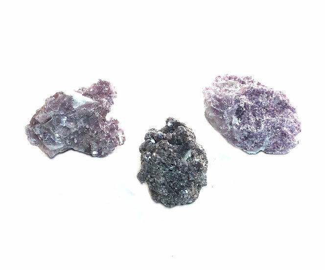 Rough Raw Purple Lepidolite Crystal Stone