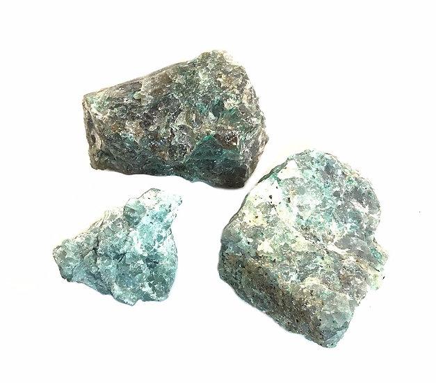 Rough Raw Blue Apatite Stone Crystal