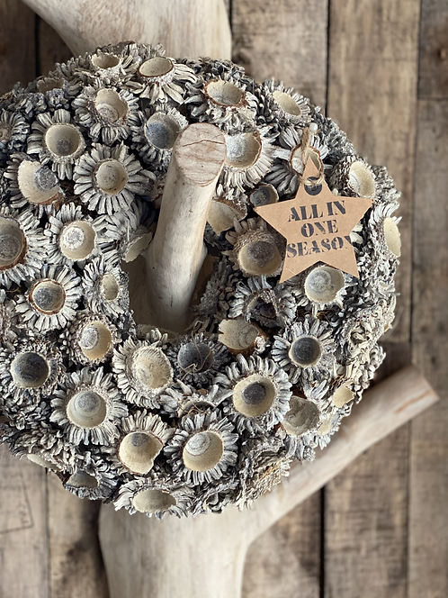 ACORN WHITEWASHED WREATH