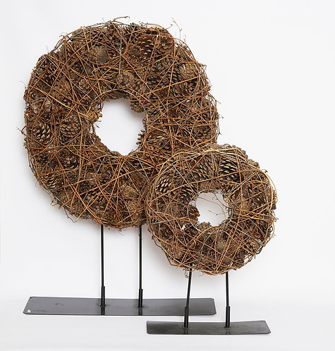 ETERNITY CONES EMBRACED WREATHS