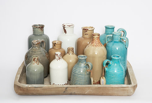 CERAMIC VASES AND BOTTLES