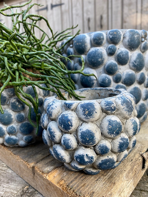 BLUE BUBBLE POT