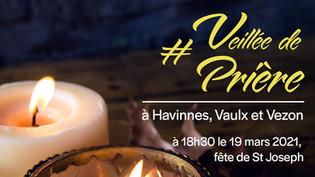 Veillée de prière à Havinnes, Vaulx et vezon