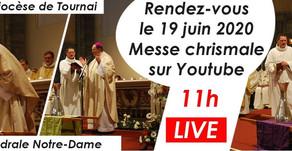 Messe chrismale 2020 - 19 juin à 11h en la Cathédrale de Tournai