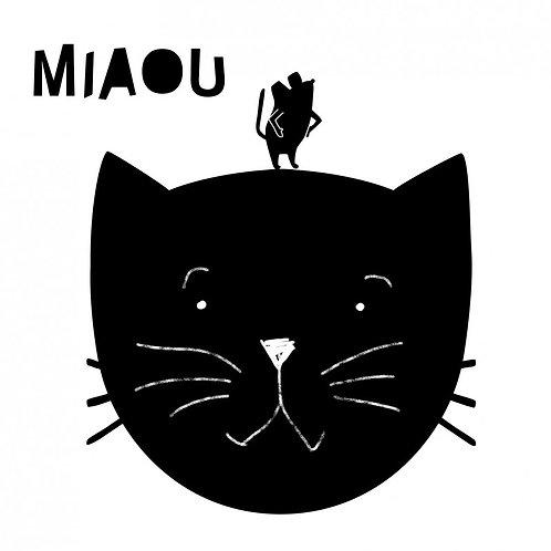 Miaou - Blackboard Sticker