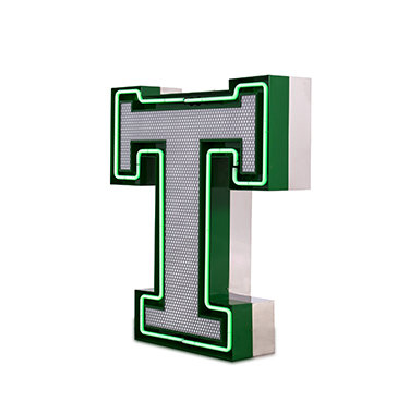LETTER T - Graphic Lamp