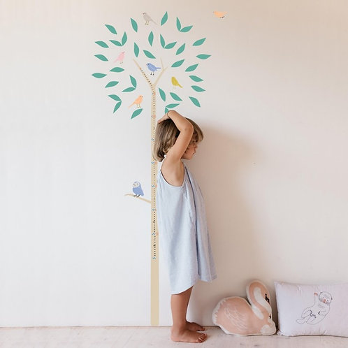 Wall Sticker Tree Height Chart