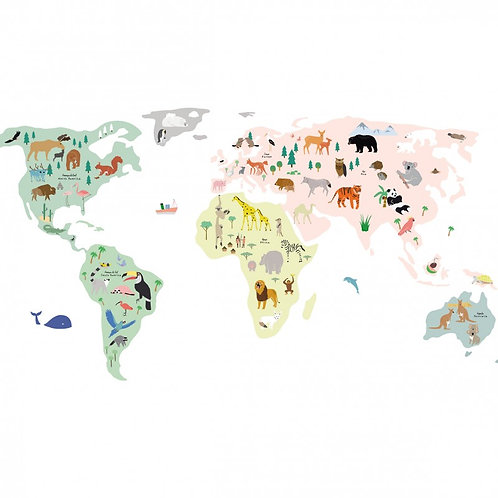 Wall Stickers Giant World Map