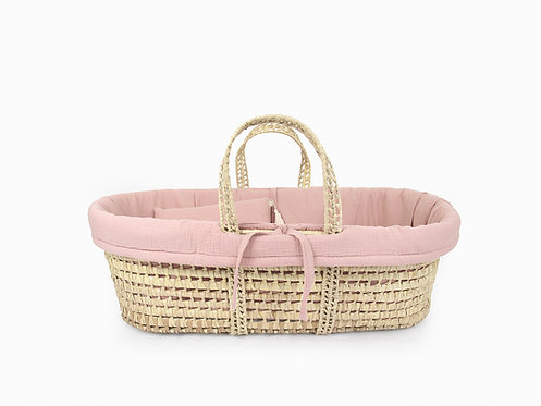 Moses Basket linen set -Blush