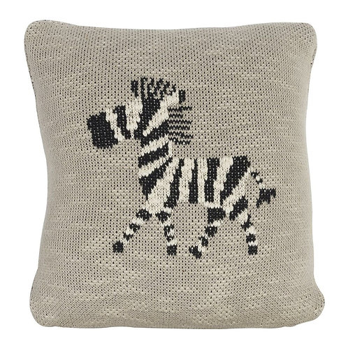Knitted Cushion 30x30 Cm - Zebra