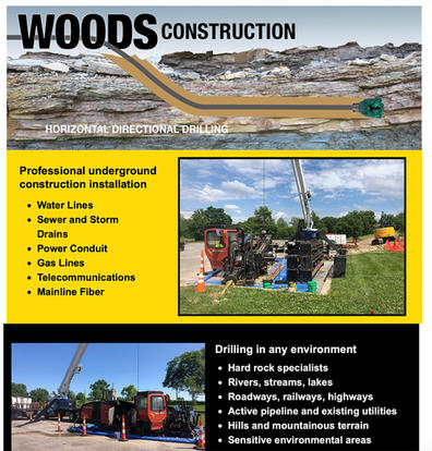 Woods Construction web site