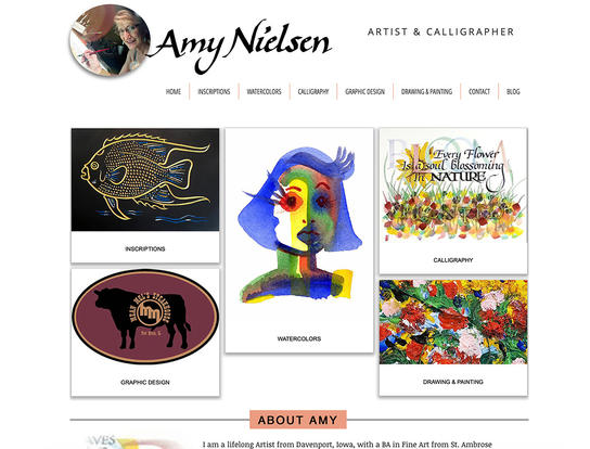 Amy Nielsen artist and caligrapher web site