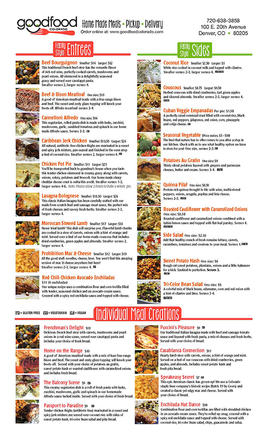 Restaurant on line menu