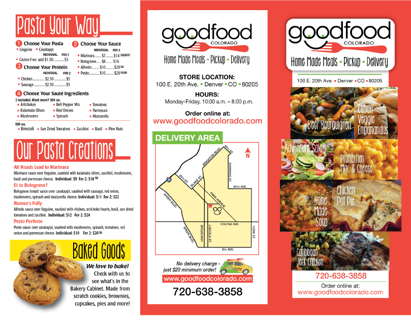 Good Food Colorado brochure