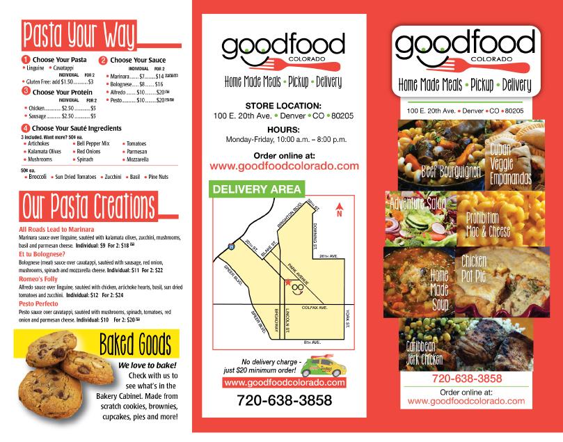 Good Food Colorado brochure
