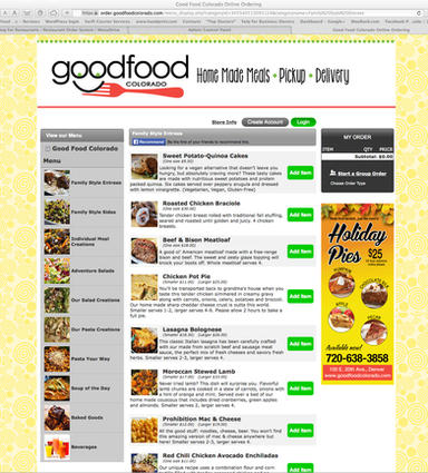 Goos Food Colorado online ordering system