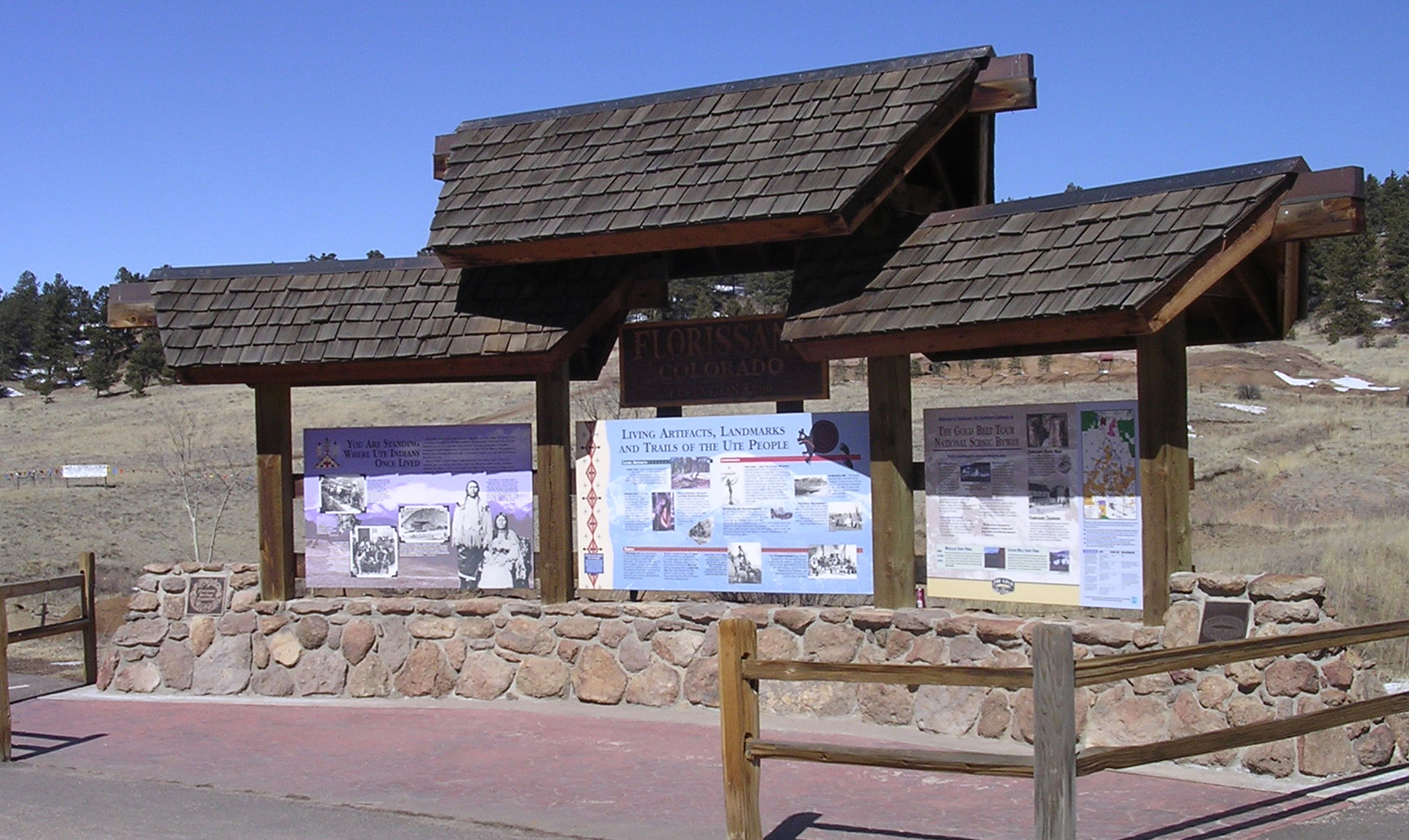 Florissant, Colorado Historic Kiosk