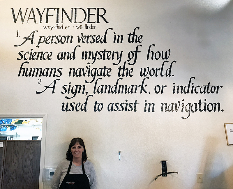 Wayfinder Coffee Shop - Calligraphy Wall
