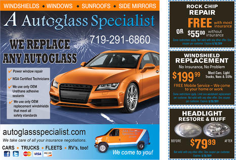 Auto glass coupon digital advertising