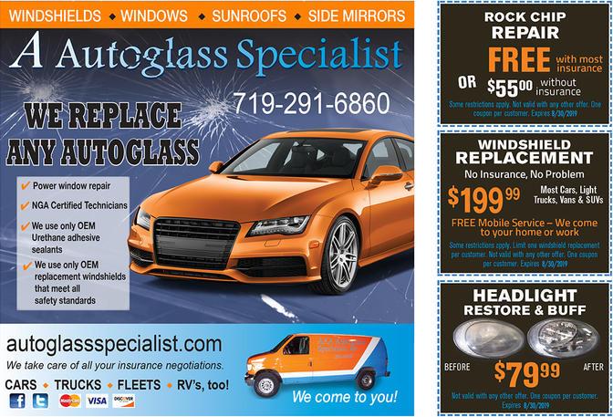 Auto glass coupon digital advertising