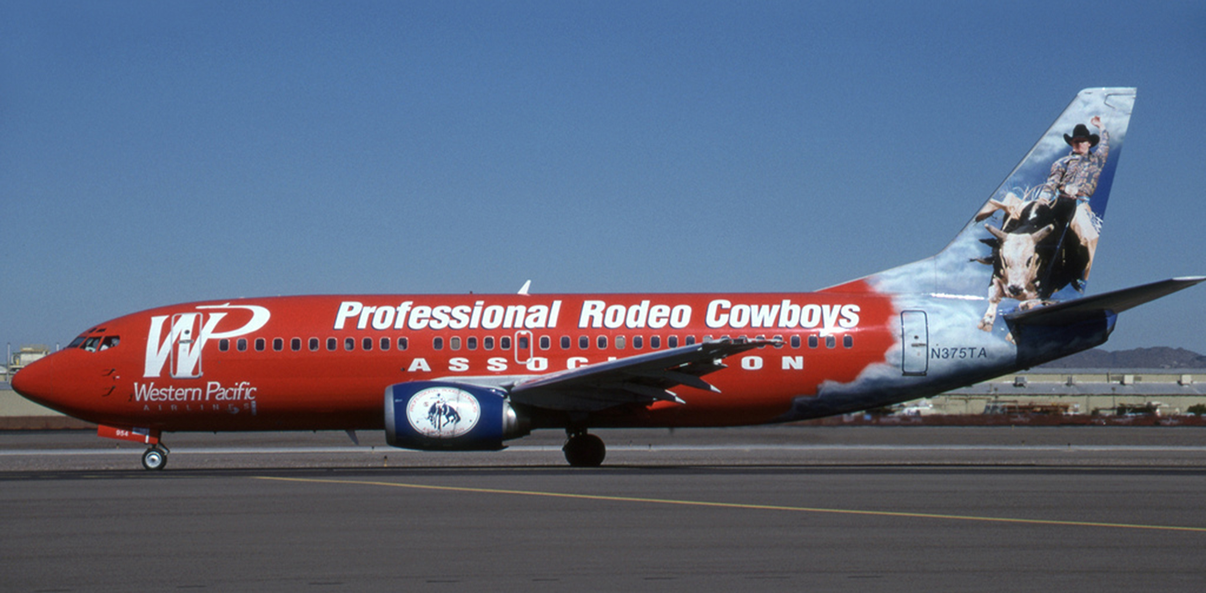 Professional Rodeo Cowboy's Association aircraft graphic design and project management.