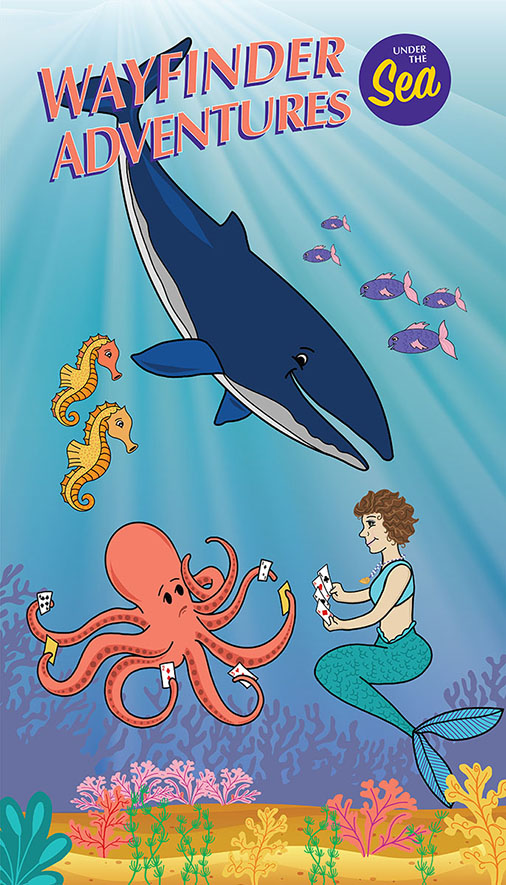 Under the Sea - Card playing with an octopus is confusing.