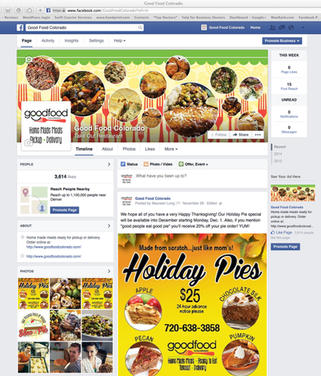 Good Food Colorado Facebook page branding