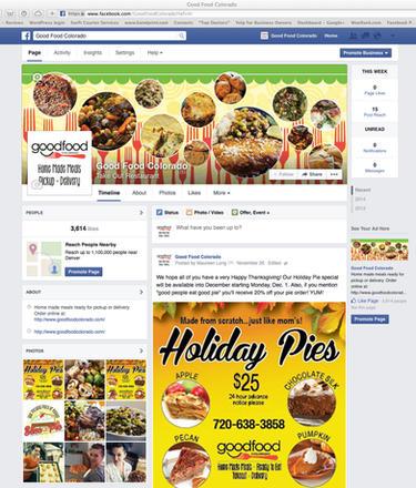 Good Food Colorado Facebook page branding