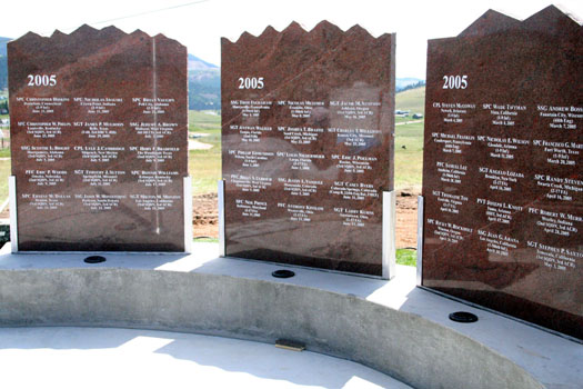 Pikes Peak Region's Memorial Wall