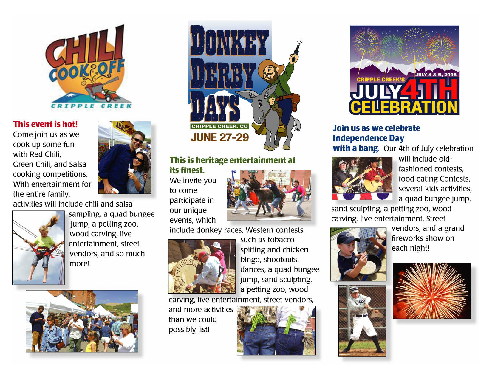 Community Event Brochure