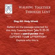 Holy Week - Tuesday: Rev'd Isaac Mwangi