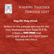 Holy Week - Wednesday: Jaime Franco