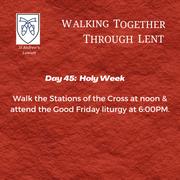Holy Week - Good Friday