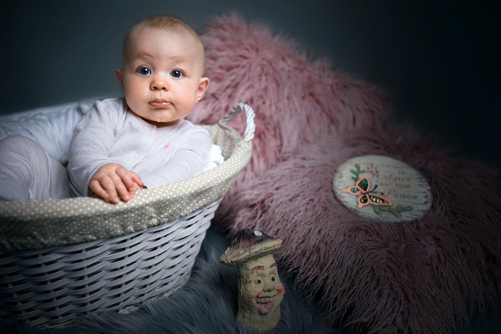 Rustic Newborn Portrait