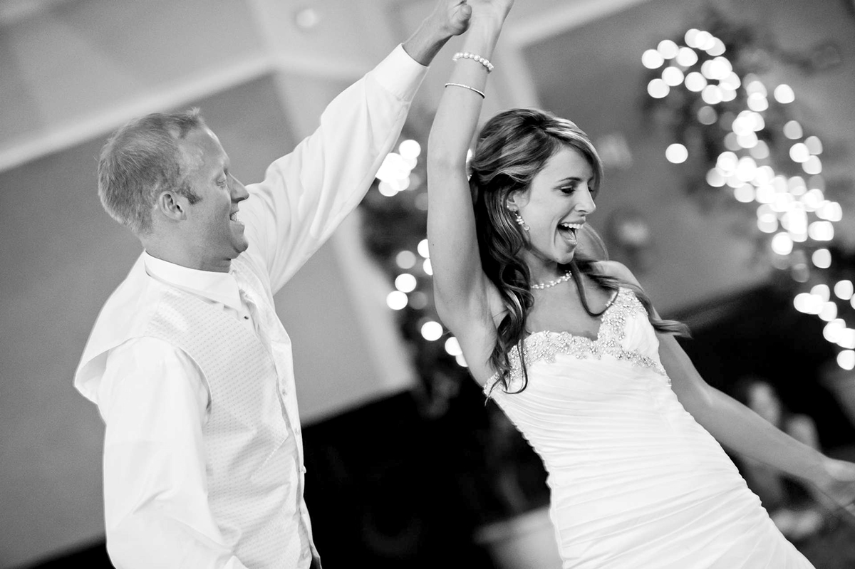 Candid Bride and Groom Dance